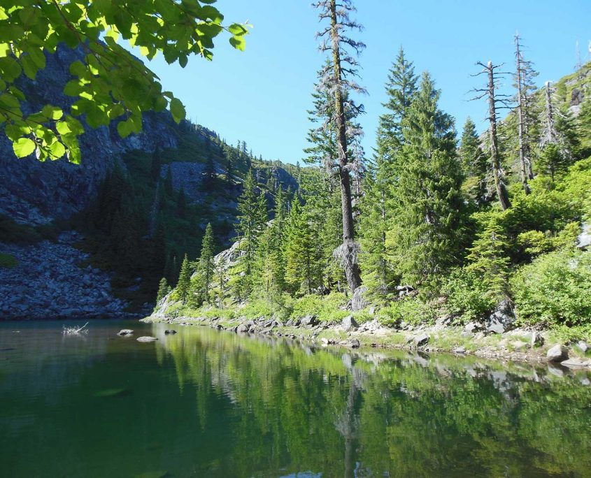 Beautiful lake and trees in the Siskiyou Wilderness