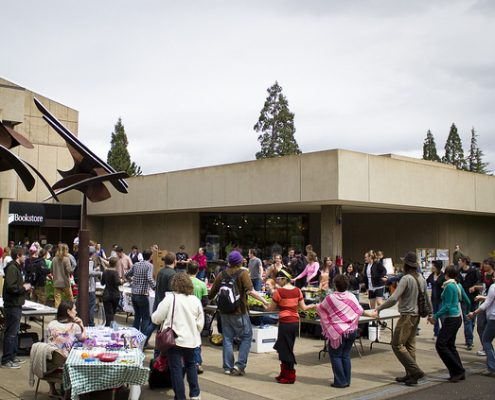 people celebrating earth day