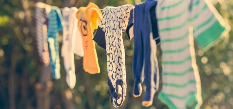 Drying clothes in the sun