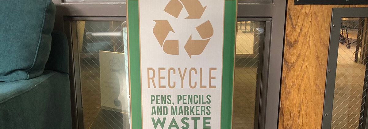 SOU Winter 2020 Newsletter Marker Recycling Sustainability